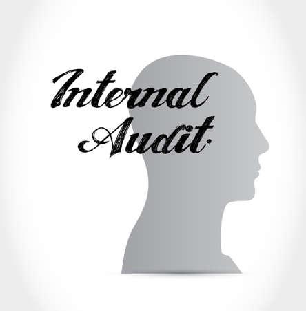Internal Audit thinking brain sign concept illustration design graphic