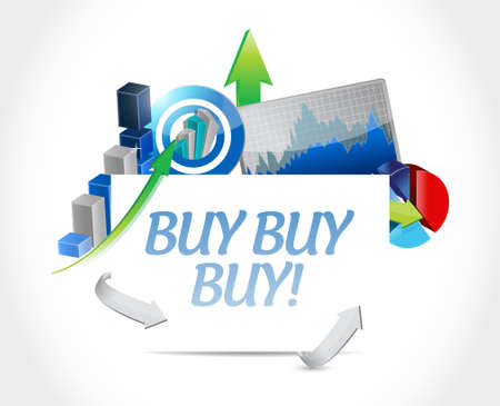 obtaining: buy buy buy business graphs sign concept illustration design graphic Illustration