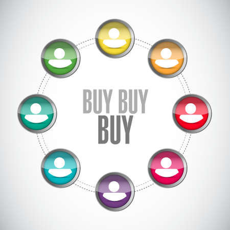 obtaining: buy buy buy small network sign concept illustration design graphic