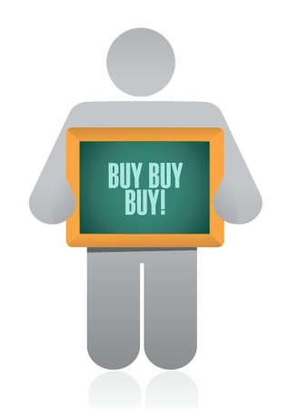 black boards: buy buy buy avatar sign concept illustration design graphic