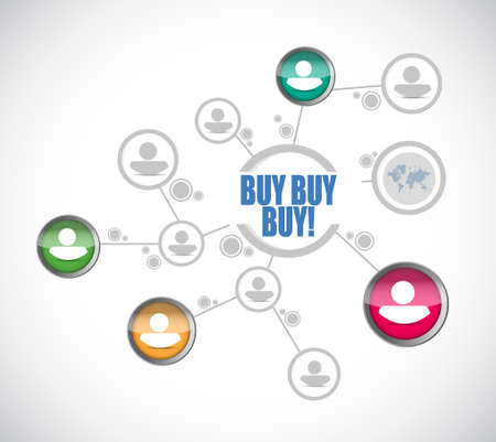 obtaining: buy buy buy people diagram sign concept illustration design graphic Illustration