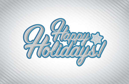 picasso: Happy holidays sign white background illustration graphics