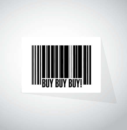 obtaining: buy buy buy barcode sign concept illustration design graphic