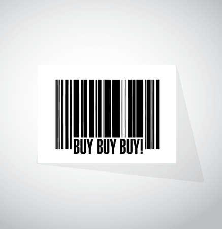koop kopen kopen barcode teken concept afbeelding afbeelding