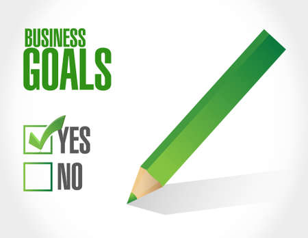 intentions: Business Goals approval sign concept illustration design graphic