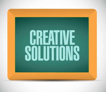 creative solutions blackboard sign concept illustration design graphic