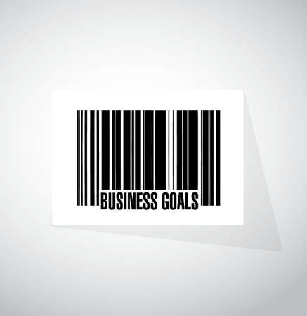 intentions: Business Goals barcode sign concept illustration design graphic Illustration
