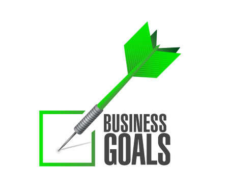 Business Goals check dart sign concept illustration design graphic
