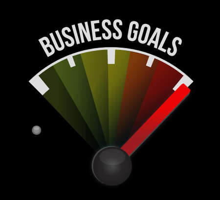 Business Goals meter sign concept illustration design graphic Çizim
