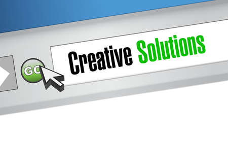 design solutions: creative solutions browser sign concept illustration design graphic Illustration