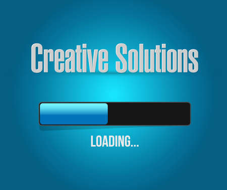 design solutions: creative solutions loading bar sign concept illustration design graphic