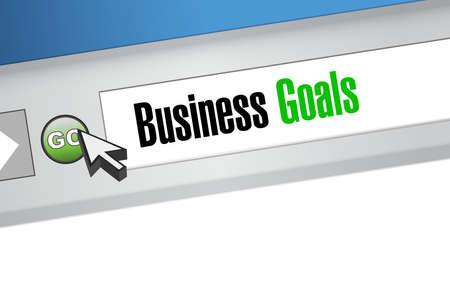 Business Goals website sign concept illustration design graphic Ilustração