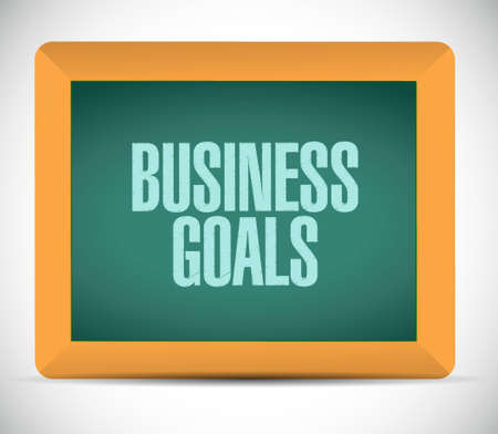 Business Goals chalkboard sign concept illustration design graphic Ilustração
