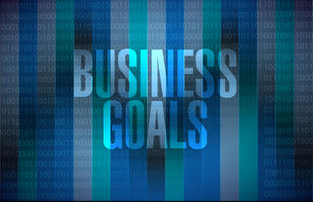 Business Goals binary background sign concept illustration design graphic Çizim