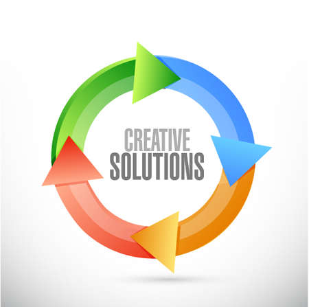 design solutions: creative solutions cycle sign concept illustration design graphic Illustration