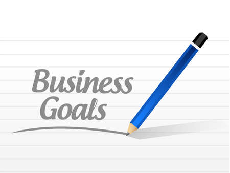 Business Goals message sign concept illustration design graphic