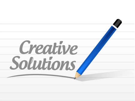 design solutions: creative solutions message sign concept illustration design graphic