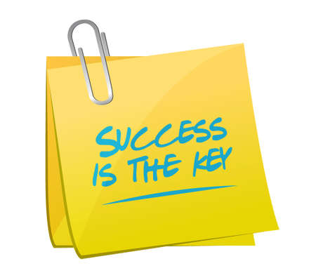 Success is the key memo post sign concept illustration design graphic 向量圖像