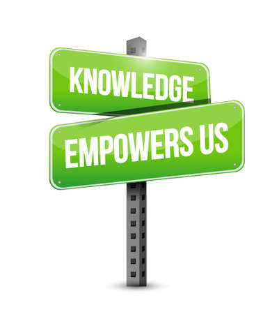 knowledge empowers us road sign concept illustration design graphic