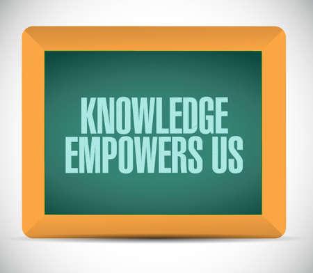 knowledge empowers us chalkboard sign concept illustration design graphic Illustration