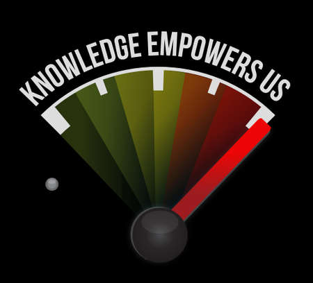 knowledge empowers us meter sign concept illustration design graphic