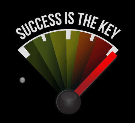 Success is the key meter sign concept illustration design graphic