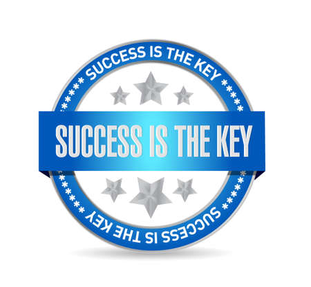 Success is the key seal sign concept illustration design graphic