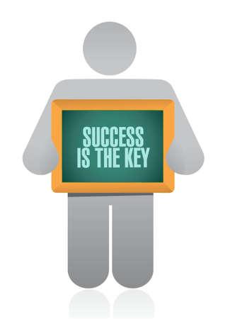 成功は鍵アバター サイン コンセプト イラスト デザイン グラフィックです。