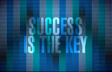 Success is the key binary background sign concept illustration design graphic