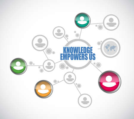 knowledge empowers us people diagram sign concept illustration design graphic