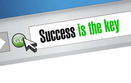 成功は主要ウェブサイト サイン コンセプト イラスト デザイン グラフィックです。  イラスト・ベクター素材