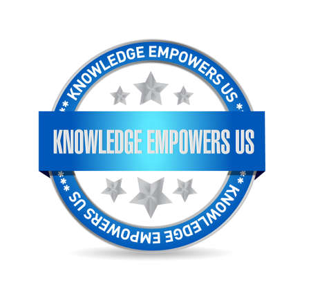 knowledge empowers us seal sign concept illustration design graphic 向量圖像