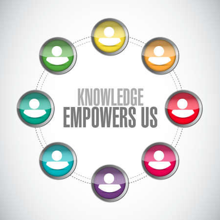 knowledge empowers us close network sign concept illustration design graphic