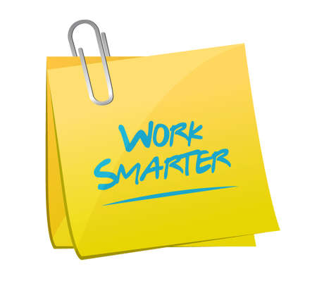 work smarter memo post sign concept illustration design graphic