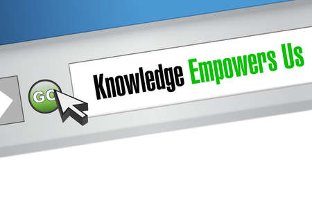 knowledge empowers us browser sign concept illustration design graphic