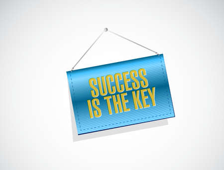Success is the key banner sign concept illustration design graphic