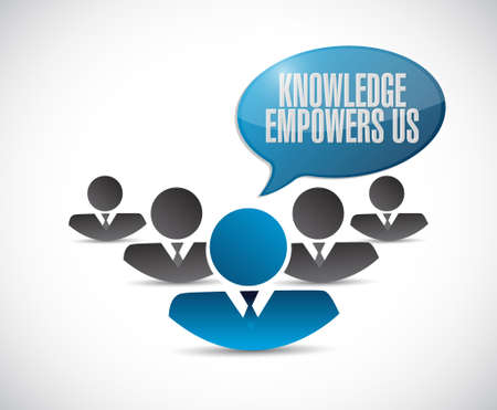 knowledge empowers us teamwork sign concept illustration design graphic