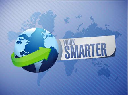 work smarter map sign concept illustration design graphic