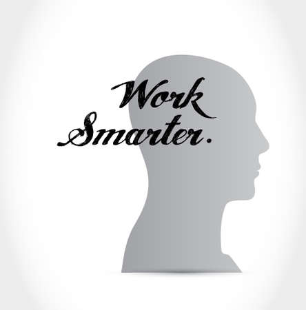 concepts and ideas: work smarter thinking brain sign concept illustration design graphic