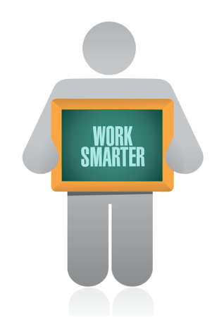 work smarter avatar sign concept illustration design graphic