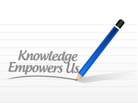 kennis machtigt ons bericht teken concept afbeelding grafische afbeelding