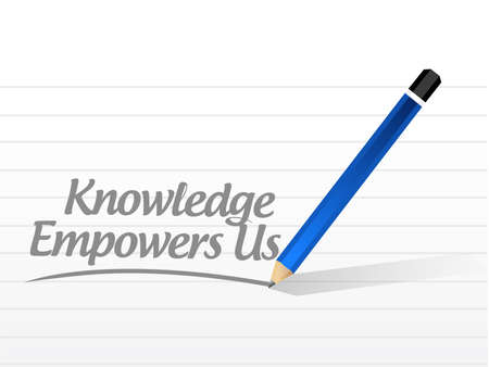 knowledge empowers us message sign concept illustration design graphic