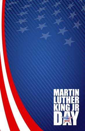 national hero: Martin Luther King JR day sign illustration us background