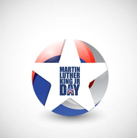 martin: Martin Luther King JR day us star sign illustration Illustration