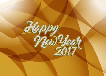 happy new year 2017 brown abstract illustration design background