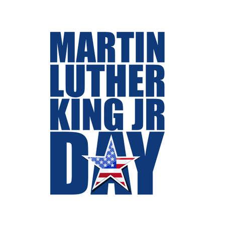 Martin Luther King JR day sign illustration design