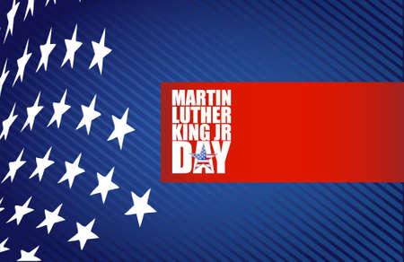 Martin Luther King JR day sign us stars design background Illustration