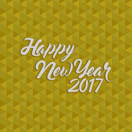 happy new year 2017 gold illustration design background Illustration