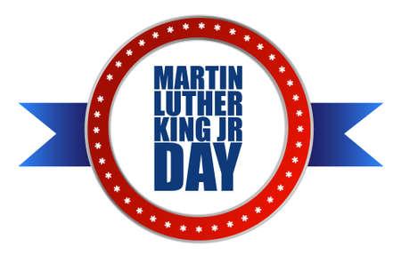 Martin Luther King JR day seal sign illustration