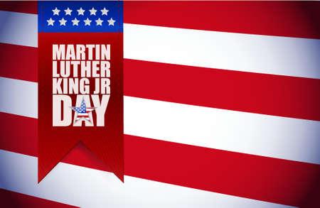 Martin Luther King JR day sign illustration us flag background Illustration